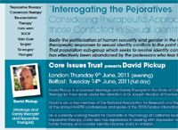 coreissues UK: Dubious Therapists Pickup, Pilkington Headline Ex-Gay Conference