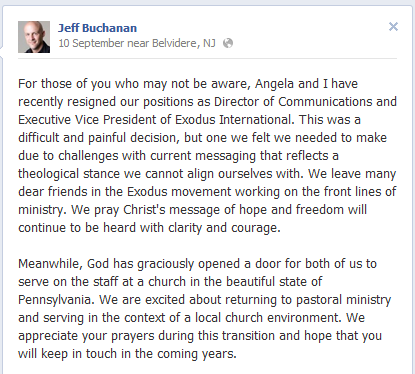 buchanan More on Jeff Buchanan's Resignation from Exodus