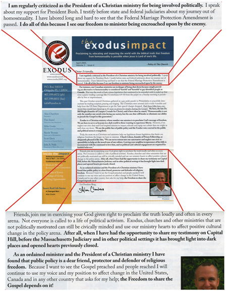 Exodus_impact A Look Back At Alan Chambers' Political Motivation
