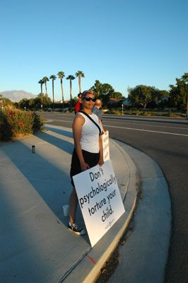 protest Love Won Out/Palm Springs Protest - Dan's Account And Photos