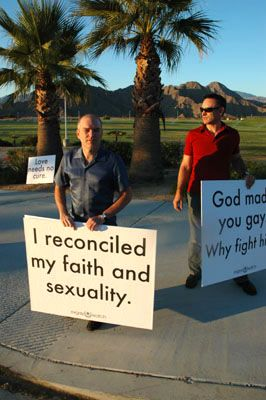 protest0 Love Won Out/Palm Springs Protest - Dan's Account And Photos