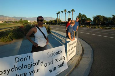 protest2 Love Won Out/Palm Springs Protest - Dan's Account And Photos