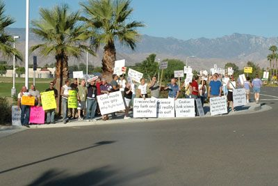 protest4 Love Won Out/Palm Springs Protest - Dan's Account And Photos